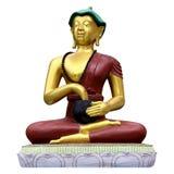линии Будды предпосылки артефакта чистые metal просто белизна статуи стоковое фото