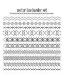 Линии вектора, установленные границы границы Стоковые Изображения RF
