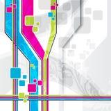 Линии вектора Eps10 multicolor Стоковое Фото
