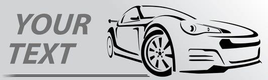 Линии вектор автомобиля абстрактные также вектор иллюстрации притяжки corel Стоковое Изображение RF