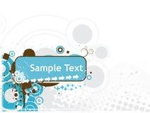 линии волна иллюстрации вектора текста образца Стоковые Фотографии RF