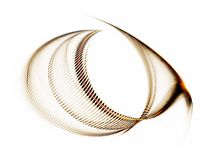 линии волнистая белизна абстрактной предпосылки золотистые Стоковые Фотографии RF