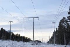 Линии высокого напряжения Стоковое фото RF