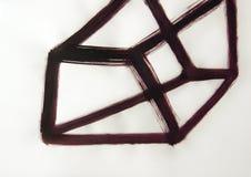 Линии вычерченный объемный куб, четырехмерная диаграмма стоковая фотография