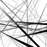 Линии геометрического искусства случайные пересекая Несимметричный скачками li иллюстрация штока