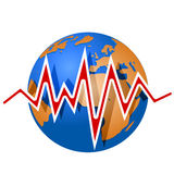 Линии земли и землетрясения Стоковое Фото