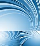 линии изогнутые предпосылками Стоковая Фотография RF