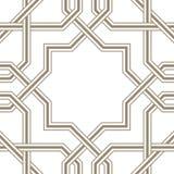 Линии исламской звезды серые с белой предпосылкой, традиционным дизайном иллюстрация вектора