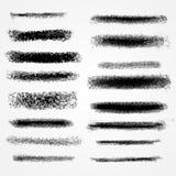 Линии или щетки мела вектора Стоковое Изображение