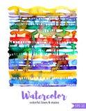 Линии и пятна акварели Белая предпосылка Бесплатная Иллюстрация