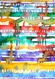 Линии и пятна акварели Белая предпосылка Иллюстрация штока