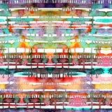 Линии и пятна акварели картина безшовная Бесплатная Иллюстрация