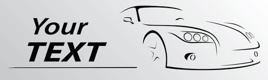 Линии иллюстрация автомобиля абстрактные вектора Стоковая Фотография RF