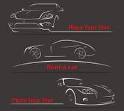 Линии иллюстрация автомобиля абстрактные вектора Стоковое Фото
