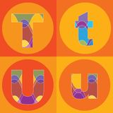 линии квады алфавитов шпунтовые иллюстрация штока