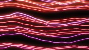 Линии конспекта неоновые волнистые бесплатная иллюстрация