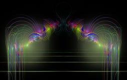 Линии концентрических кругов фрактали красочные иллюстрация штока