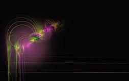 Линии концентрических кругов фрактали красочные бесплатная иллюстрация