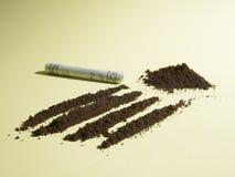 Линии кофе для наркоманов Стоковые Изображения RF