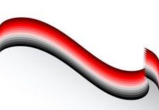 линии красное волнистое предпосылки серые Стоковая Фотография