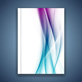 Линии крышка сатинировки яркие голубые ровные мягкие папки Стоковые Изображения RF