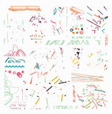Линии нарисованные рукой doodle дизайна элемента орнамент границы Стоковая Фотография