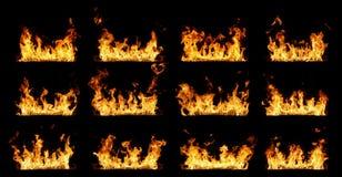 Линии настоящего огня Стоковое Фото