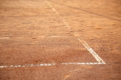 Линии на теннисном корте Стоковые Изображения RF