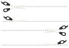 линии отрезока ножницы Стоковая Фотография RF