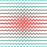 Линии покрашенные радугой острые формируя картину зигзага Стоковые Фотографии RF