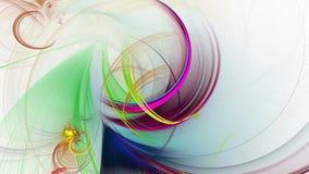 Линии полное HD абстрактной фрактали покрашенные сток-видео