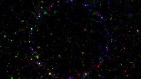 Линии полное HD абстрактной фрактали покрашенные видеоматериал