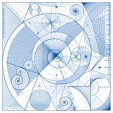 линии предпосылки голубые Стоковые Фото