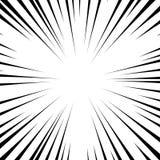 Линии предпосылки радиальные на белой предпосылке Скорость комика, взрыв Иллюстрация вектора для графического дизайна иллюстрация вектора