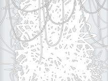 линии предпосылки черные белые Стоковая Фотография RF