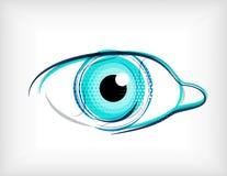 Линии принципиальная схема вектора вектора глаза бесплатная иллюстрация