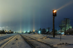 Линии светлого рельса Стоковое Изображение