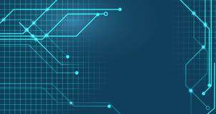 Линии сети Technologic на плоский соединяться предпосылки иллюстрация штока