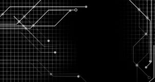 Линии сети Technologie на плоский соединяться Backgroung бесплатная иллюстрация