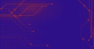 Линии сети Technologie на плоский соединяться Backgroung иллюстрация штока