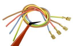 линии сила соединения электрические подготовленная к Стоковые Изображения RF