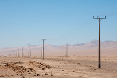 линии сила Чили электрические Стоковое Изображение