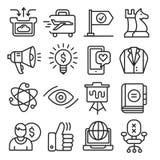 Линии собрание пакета значков иллюстрация вектора