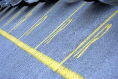 линии стоянка автомобилей серии Стоковое Изображение
