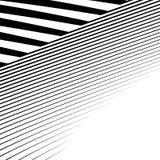 Линии с искажением Нервные, волнистые линии monochrome геометрическое Пэт Стоковое Изображение RF