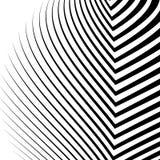 Линии с искажением Нервные, волнистые линии monochrome геометрическое Пэт Стоковая Фотография RF