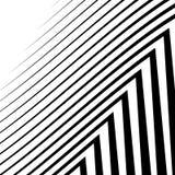 Линии с искажением Нервные, волнистые линии monochrome геометрическое Пэт Стоковые Фото