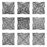 Линии сложной формы предпосылка, картина, абстрактный комплект элемента дизайна Стоковая Фотография
