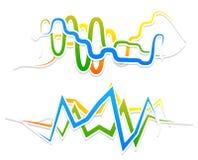 Линии с развевать, billowy влияние Волнистый, линии зигзага Стоковые Изображения RF