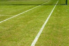 Линии теннисного корта Стоковые Фото